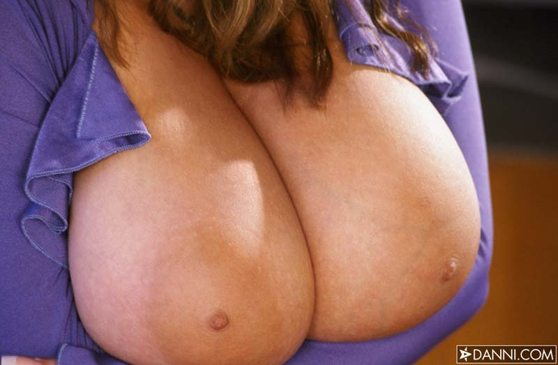 Busty Nadine Jansen Shows Her Huge Tits